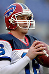 31 December 2006: Buffalo Bills backup quarterback Craig Nall warms up prior to a game against the Baltimore Ravens at M&T Bank Stadium in Baltimore, Maryland. The Ravens defeated the Bills 19-7. Mandatory Photo Credit: Ed Wolfstein Photo.<br />