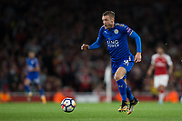 Leicester City's Jamie Vardy in action<br /> <br /> Photographer Craig Mercer/CameraSport<br /> <br /> The Premier League - Arsenal v Leicester City - Friday 11th August 2017 - Emirates Stadium - London<br /> <br /> World Copyright &copy; 2017 CameraSport. All rights reserved. 43 Linden Ave. Countesthorpe. Leicester. England. LE8 5PG - Tel: +44 (0) 116 277 4147 - admin@camerasport.com - www.camerasport.com