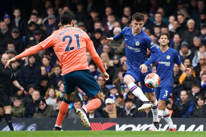 Chelsea's Mason Mount<br /> <br /> Photographer Stephanie Meek/CameraSport<br /> <br /> The Premier League - Chelsea v Everton - Sunday 8th March 2020 - Stamford Bridge - London<br /> <br /> World Copyright © 2020 CameraSport. All rights reserved. 43 Linden Ave. Countesthorpe. Leicester. England. LE8 5PG - Tel: +44 (0) 116 277 4147 - admin@camerasport.com - www.camerasport.com