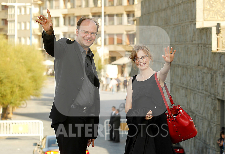French actors Jean Pierre Ameris (l) and Isabelle Carre (r) during the 59th San Sebastian Donostia International Film Festival - Zinemaldia.September 21,2011.(ALTERPHOTOS/ALFAQUI/Acero)