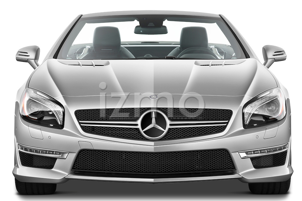Straight front view of a 2013 Mercedes-Benz SL-Class SL63 AMG Convertible