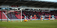 Rovers go two up as Niall Mason fires home his penalty, Doncaster, United Kingdom, 26th December 2017. Photo by Glenn Ashley.