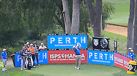 David Drysdale (SCO) on the 18th tee during Round 1 of the ISPS HANDA Perth International at the Lake Karrinyup Country Club on Thursday 23rd October 2014.<br /> Picture:  Thos Caffrey / www.golffile.ie