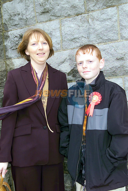 Christopher Sheeran and his mother Ethna at confirmation in tenure..Picture Fran Caffrey Newsfile...This Picture is sent to you by:..Newsfile Ltd.The View, Millmount Abbey, Drogheda, Co Louth, Ireland..Tel: +353419871240.Fax: +353419871260.GSM: +353862500958.ISDN: +353419871010.email: pictures@newsfile.ie.www.newsfile.ie