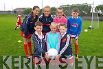 Enjoying the Cul Camp in Castlegregory on Thursday in the local GAA field from front l-r were: Ronán McDonnacha, Freya Cheevers and Samuel Killing. Back l-r were: Dubhana Kelly, Holly O'Flynn, Lucy O'Donnell and Diarmuid McDonacha.