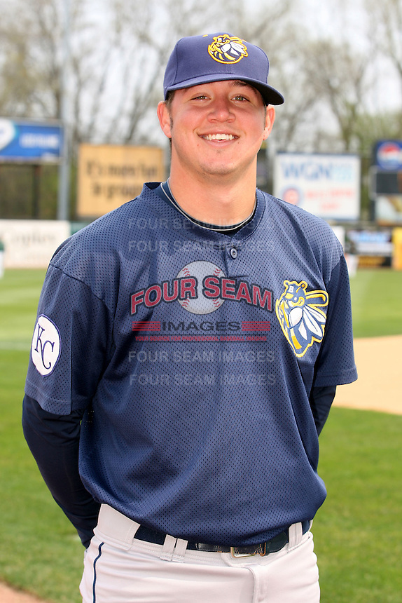 April 11 2010: Mike Lehmann of the Burlington Bees. The Bees are the Low A affiliate of the Kansas City Royals. Photo by: Chris Proctor/Four Seam Images