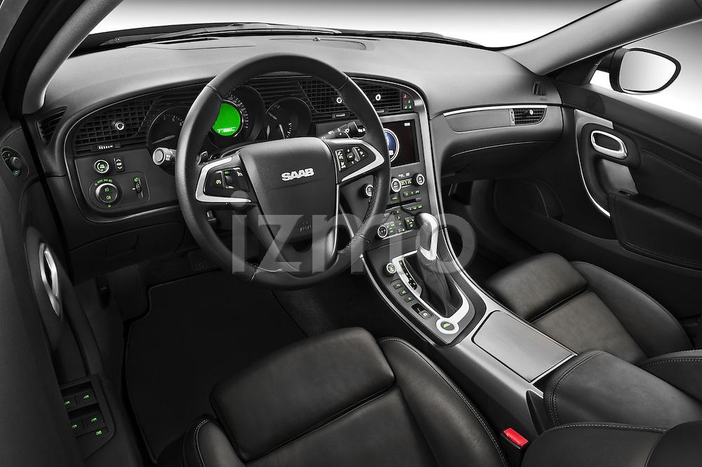 High angle dashboard view of a 2011 Saab 95 Vector 4 Door Sedan