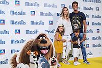 Spanish football player Albaro Arbeloa with his wife Carlota Ruiz during the premiere of  Mascotas at Kinepolis cinema in Madrid. July 21, 2016. (ALTERPHOTOS/Rodrigo Jimenez) /NORTEPHOTO.COM