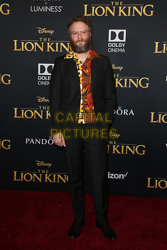 HOLLYWOOD, CA - JULY 9: Seth Rogen at The Lion King Film Premiere at El Capitan Theatre in Hollywood, California on July 9, 2019. <br /> CAP/MPIFS<br /> ©MPIFS/Capital Pictures