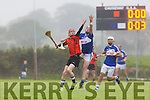 In Action Ballyheigue Colin O'Mahony and St Brendan's  Kieran Fitzgerald in the Garvey's Super Valu Senior County Hurling Championship Round 2B Ballyheigue V St Brendan's in Causeway on Sunday