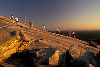 hiking, Stone Mountain, Atlanta, GA, Georgia, Georgia's Stone Mountain Park, People hiking up Stone Mountain, the largest single granite rock in the world, in Georgia's Stone Mountain Park.