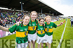 Maeve Daly Ellie O'Connell Shannon O'Donnell and Sarah O'Sullivan, who took part Munster Primary School Games during half time at the Munster Final Kerry v Tipperary, held in Fitzgerald Stadium, Killarney on Sunday last.