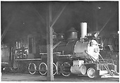 3$ engineer's-side partial view of D&amp;RGW #278 inside the Gunnison roundhouse.<br /> D&amp;RGW  Gunnison, CO