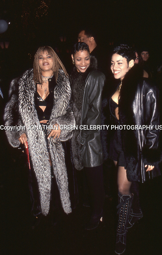 Salt N Pepa 1994 NYC Arriving At Bobby Brown Birthday Party Tavern On The Green