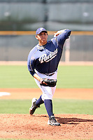 Juan Oramas, San Diego Padres 2010 minor league spring training..Photo by:  Bill Mitchell/Four Seam Images.
