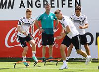 Marco Reus (Deutschland, Germany), Niklas Süle (Deutschland Germany), Jonas Hector (Deutschland Germany) - 28.05.2018: Training der Deutschen Nationalmannschaft zur WM-Vorbereitung in der Sportzone Rungg in Eppan/Südtirol