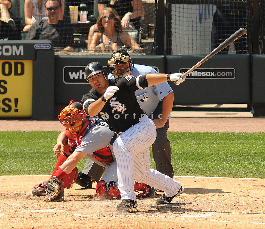 CARLOS QUENTIN, of the Chicago White Sox, in action during the White Sox game against the Boston Red Sox on July 31,2011 at US Cellular Field in Chicago, Illinois. The Red Sox beat the White Sox 5-3.
