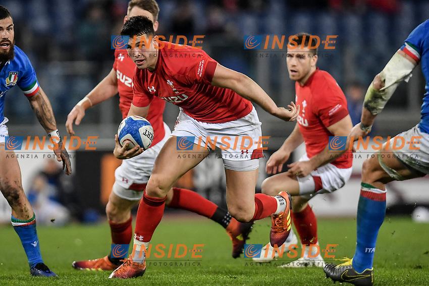 Owen Watkin Wales<br />  <br /> Roma 9-02-2019 Stadio Olimpico<br /> Rugby Six Nations tournament 2019  <br /> Italy - Wales <br /> Foto Antonietta Baldassarre / Insidefoto