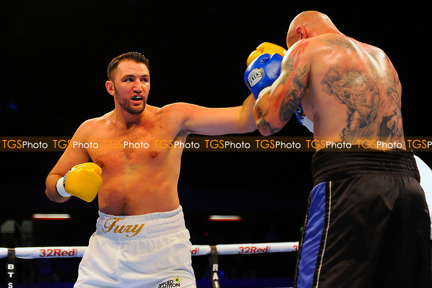 Hughie Fury defeats Kamil Sokolowski during a Boxing Show at the Copper Box Arena on 8th July 2017