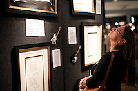 John Lennon drawings and sketches are exibit in a Art gallery  in New York, United States. 05/10/2012. Photo by Kena Betancur/VIEWpress.