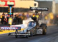 Jul 31, 2015; Sonoma, CA, USA; NHRA top fuel driver Shawn Langdon during qualifying for the Sonoma Nationals at Sonoma Raceway. Mandatory Credit: Mark J. Rebilas-