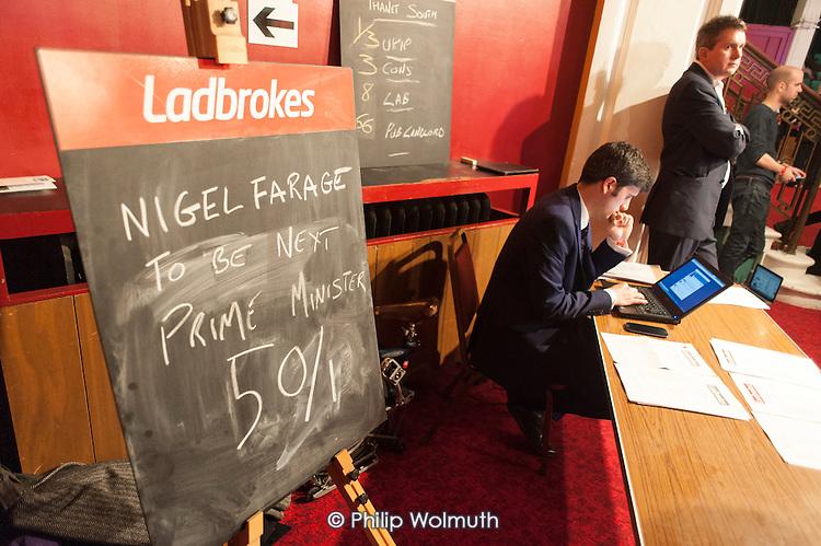 Ladbrokes stall, UKIP Spring Conference, Margate, Kent.