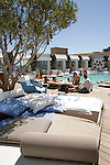 Outdoor rooftop pool and Sky Bar at the Mondrian Hotel, West Hollywood, CA