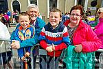 Darragh, John, Jack and Elaine Hanlon watching the parade on Sunday.