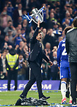 Chelsea's Antonio Conte celebrates with an inflatable trophy during the Premier League match at Stamford Bridge Stadium, London. Picture date: May 15th, 2017. Pic credit should read: David Klein/Sportimage