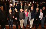 """Denzel Washington with the Broadway cast of """"The Iceman Cometh""""  Press Photocall at Delmonico's on April 11, 2018 in New York City."""