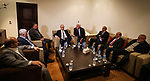 Palestinian Prime Minister Rami Al-Hamdallah meets with leaders of Hamas and Fateh, in Gaza City December 7, 2017. Photo by Prime Minister Office