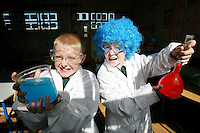8/6/2010    ****NO FEE PHOTOS ***********.Paul Kinlan (no wig) (11), Conor Darcy (blue wig) (10) of St. Laurence O'Tooles CBS Dublin, pictured at Discover Science and Engineering's 2010 Awards of Science and Maths Excellence. Part of the Discover Primary Science programme, the awards acknowledge the efforts of primary school children and teachers who have demonstrated an increased knowledge and application of science and maths. This year 493 schools from across the country received an Award of Science and Maths Excellence..Pic James Horan / Collins Photos . .. .. .?. .