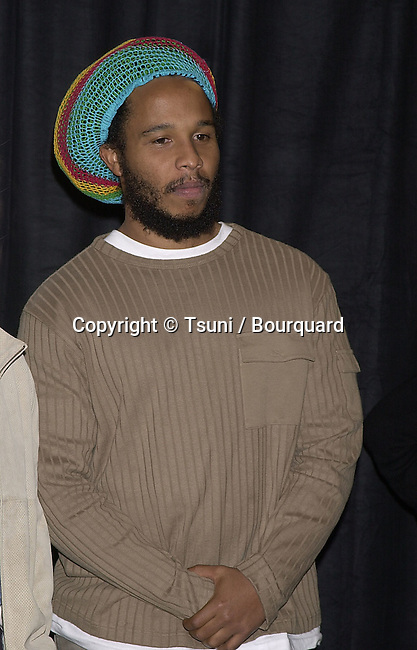 Ziggy Marley during the presentation of the MusiCares 2001 , Century Plaza In Los Angeles. Feb 19, 2001<br />           -            MarleyZiggy01A.jpg