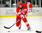 9 January 2011: Boston University Terrier forward Charlie Coyle, a Freshman from East Weymouth, MA, in action against the University of Vermont Catamounts at Gutterson Fieldhouse in Burlington, Vermont. The Terriers defeated the Catamounts 4-2 in Hockey East play. Mandatory Credit: Ed Wolfstein Photo