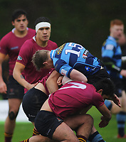 Action from the Top Four 1st XV rugby semifinal between Kings College and Nelson College at Massey University in Palmerston North, New Zealand on Friday, 6 September 2019. Photo: Dave Lintott / lintottphoto.co.nz