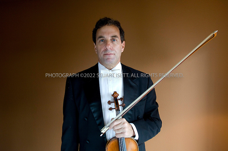 9/25/2007--Seattle, WA, USA..Peter Kaman, violinist with Seattle Symphony has a pending court case, alleging abuse by its conductor Gerard Schwarz. This comes in in the context of several years of conflict between players and Schwarz, who has been music director for 22 years...©2007 Stuart Isett. All rights reserved