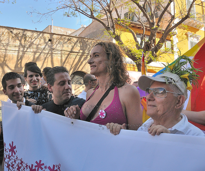 Palermo, first gay pride in Sicily, Vladimir Luxuria.<br /> Palermo, primo gay pride in Sicilia, Vladimir Luxuria.