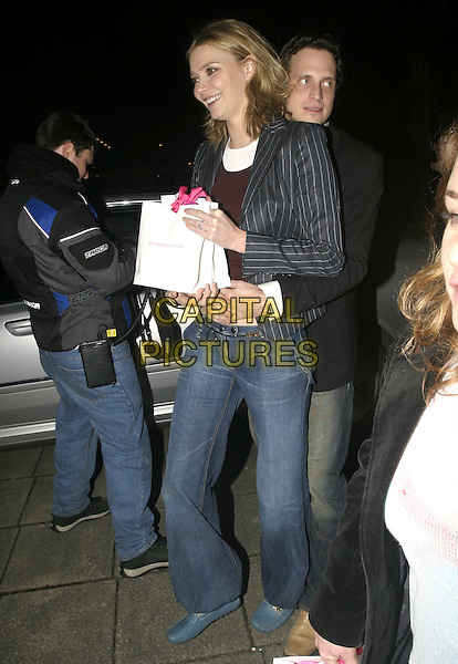 JODIE KIDD & BOYFRIEND.Leaving Cabaret Club, London, London, .February 16th 2005..full length hugging.Ref: AH.www.capitalpictures.com.sales@capitalpictures.com.©Capital Pictures.