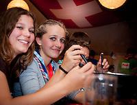 """Swiss Scout Troup 12 """"Landeier"""" is enjoying Cheese fondue in the swiss chalet"""
