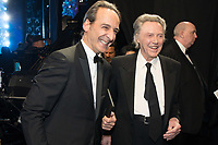 Christopher Walken with Alexandre Desplat as he poses backstage with the Oscar&reg; for achievement in music written for motion pictures (original score) for work on &ldquo;The Shape of Water&rdquo; during the live ABC Telecast of The 90th Oscars&reg; at the Dolby&reg; Theatre in Hollywood, CA on Sunday, March 4, 2018.<br /> *Editorial Use Only*<br /> CAP/PLF/AMPAS<br /> Supplied by Capital Pictures