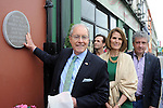 American Ambassador Kevin O'Malley and his wife Dena with local writer Billy Keane unveiling a plaque to Listowel woman Kathy Buckey, who was cook to three US presidents in The White House and was honoured at the Listowel Food Fair.<br /> Picture by Don MacMonagle<br /> <br /> REPRO FREE PHOTO FROM  LISTOWEL FOOD FAIR