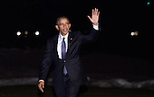 United States President Barack Obama walks back to the Residence after arriving at the White House, on January 28, 2016 in Washington, DC following a trip to Baltimore, Maryland to deliver remarks and answer questions at the House Democratic Issues Conference. <br /> Credit: Olivier Douliery / Pool via CNP