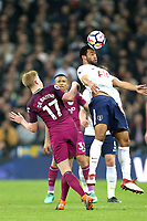 Mousa Dembélé of Tottenham Hotspur and Kevin De Bruyne of Manchester City during Tottenham Hotspur vs Manchester City, Premier League Football at Wembley Stadium on 14th April 2018