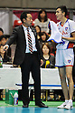 (L-R) Masayasu Sakamoto, Yuya Ageba (FC Tokyo), MARCH 5, 2011 - Volleyball : FC Tokyo head coach Masayasu Sakamoto gives instructions to Yuya Ageba during the 2010/11 Men's V.Premier League match between F.C.Tokyo 0-3 Sakai Blazers at Tokyo Metropolitan Gymnasium in Tokyo, Japan. (Photo by AZUL/AFLO).