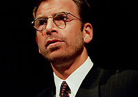 ID : pr_99-03-09-B 32.jpg<br /> Montreal, March 29, 1999 File Photo<br /> Seagrams CEO Edgar Bronfman Jr. giving a speech about the changes in Seagram's (from a liquor toward entertainment company) ti the Canadian Club in Montreal (Quebec, Canada) on March 8 1999<br /> Photo by Pierre Roussel, (c) 1999<br /> NOTE : New (and improved scan) of a previously sent photo