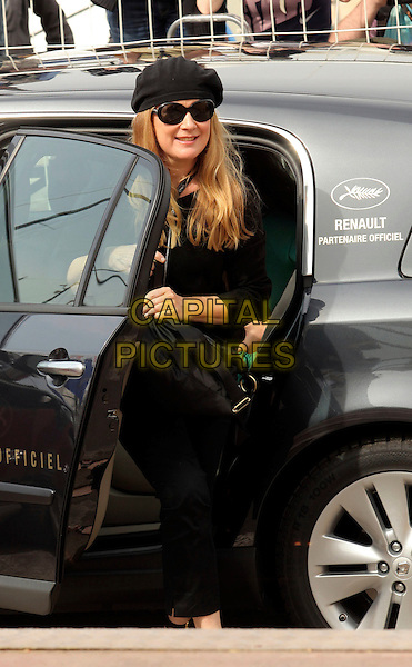"ANDREA ARNOLD.""Fish Tank"" photocall at the Palais des Festivals during the 62nd International Cannes Film Festival Cannes, France. .May 14th, 2009.full length black hat jacket car  sunglasses shades .CAP/CAS.©Bob Cass/Capital Pictures."