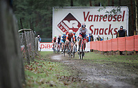 British Champion Nikki Harris (GBR/Boels-Dolmans) leads the pack in the 1st lap<br /> <br /> Elite Women's race<br /> UCI 2016 cyclocross World Championships