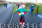 Steven Byrne from Tralee at the Santa Fun Run on Sunday in the Tralee Bay Wetlands.