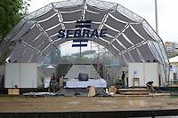 RIO DE JANEIRO-08/06/2012-Rio+20-Cupula dos Povos-Montagem de estandes, tendas e estruturas do territorio da Cupula dos Povos no Aterro do Flamengo, zona sul do Rio.Foto:Marcelo Fonseca-Brazil Photo Press