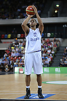 GB's Myles Hesson free throw during the EuroBasket 2015 2nd Qualifying Round Great Britain v Bosnia & Herzegovina (Euro Basket 2nd Qualifying Round) at Copper Box Arena in London. - 13/08/2014